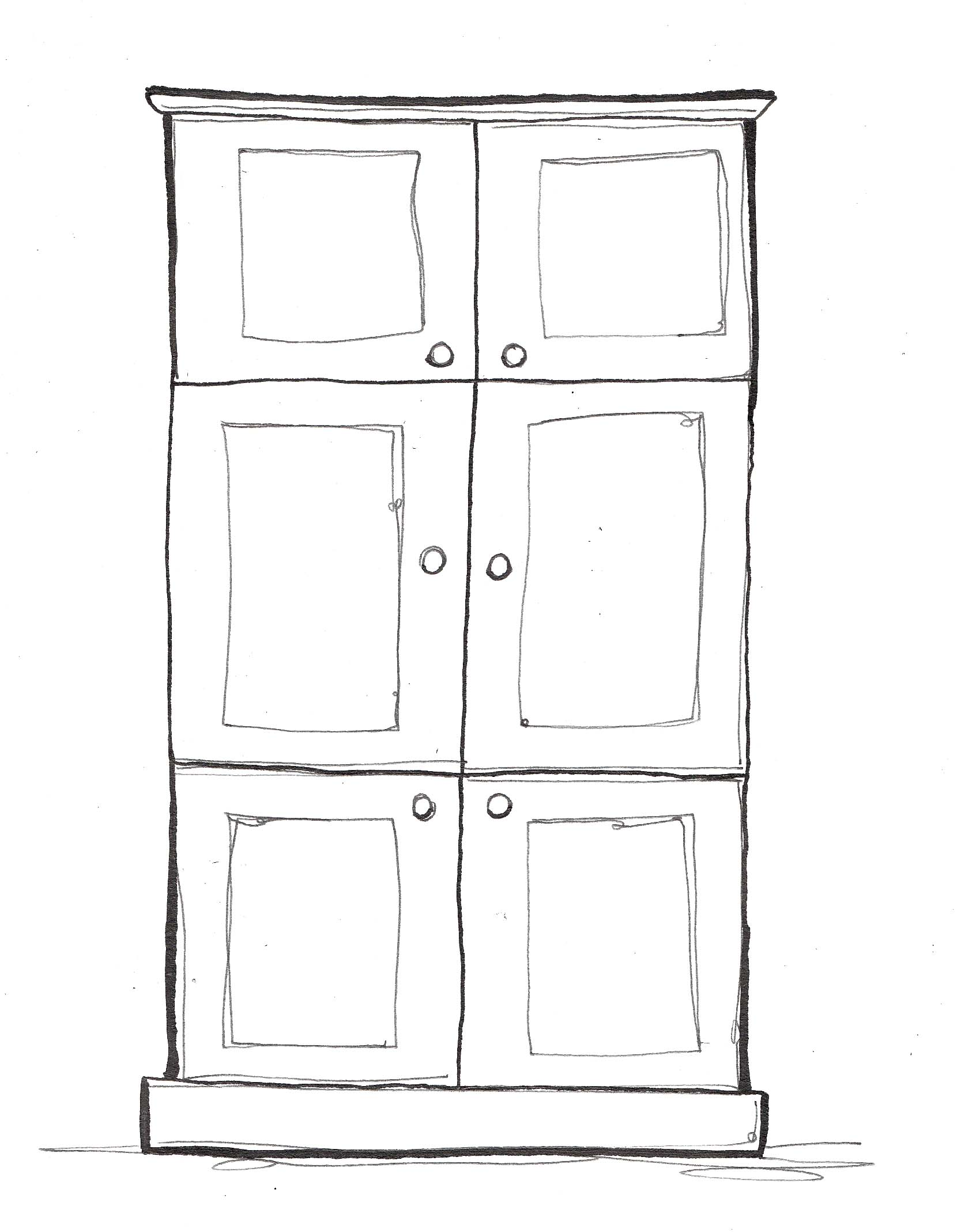 Illustration of a cupboard by Hannah Foley. All rights reserved (www.owlingabout.co.uk).