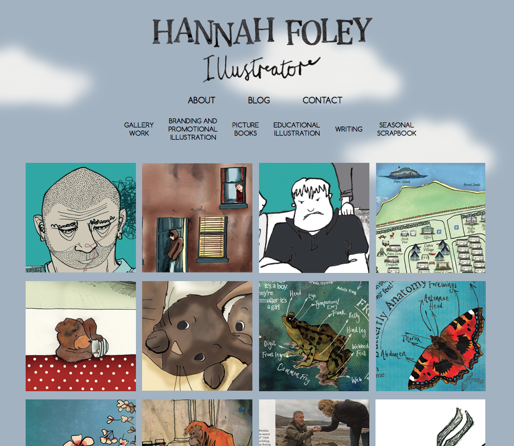 New website of Hannah Foley (illustrator)