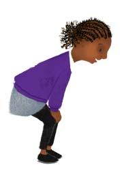girl, bending, afro-carribean, curls, brown, black, purple, white, children, illustration, picture books, hannah foley