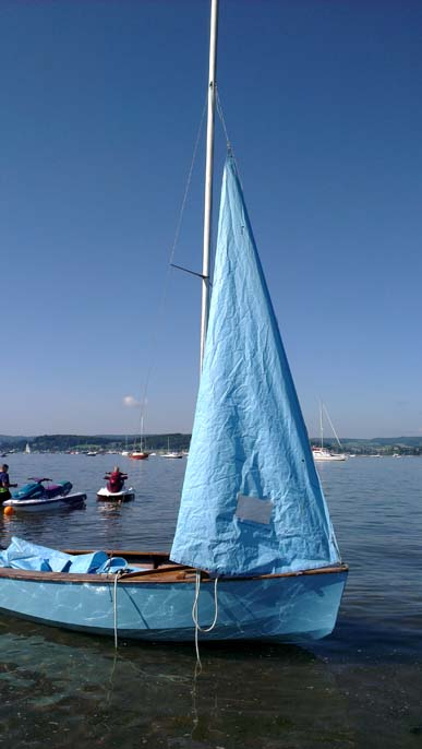 Enterprise, dinghy, sailing, water, sea, blue, boat