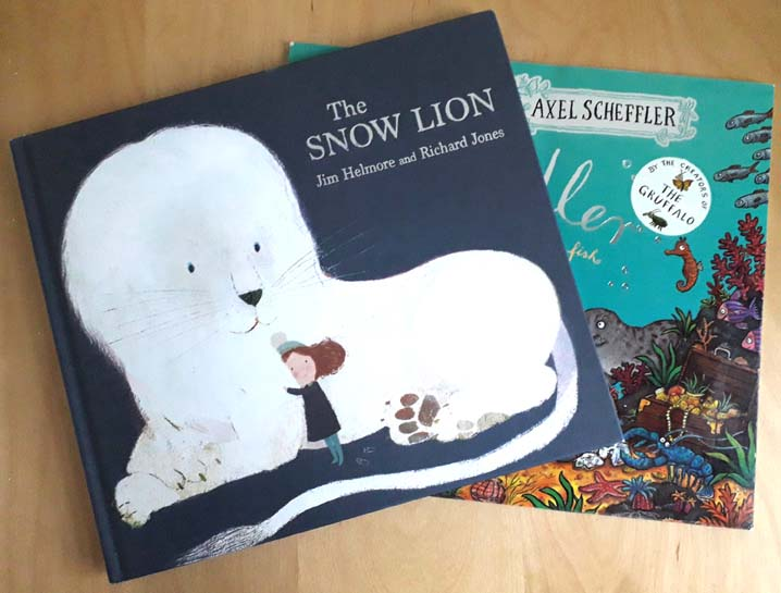 The Snow Lion, Jim Helmore, Richard Jones, Tiddler, Julia Donaldson, Axel Scheffler