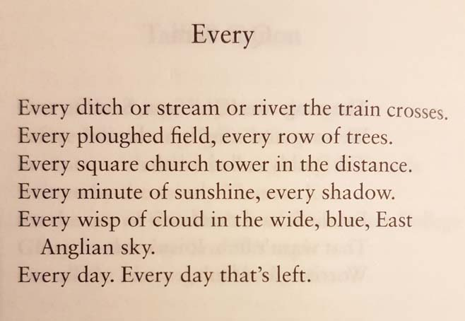 Every by Wendy Cope