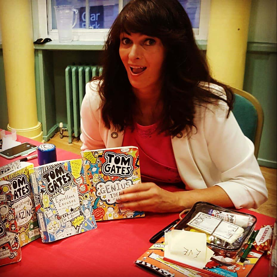 Liz Pichon, author and illustrator of the Tom Gates books, at the Bath Children's Literature Festival.