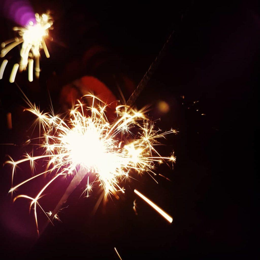 sparklers on bonfire night. Hannah Foley