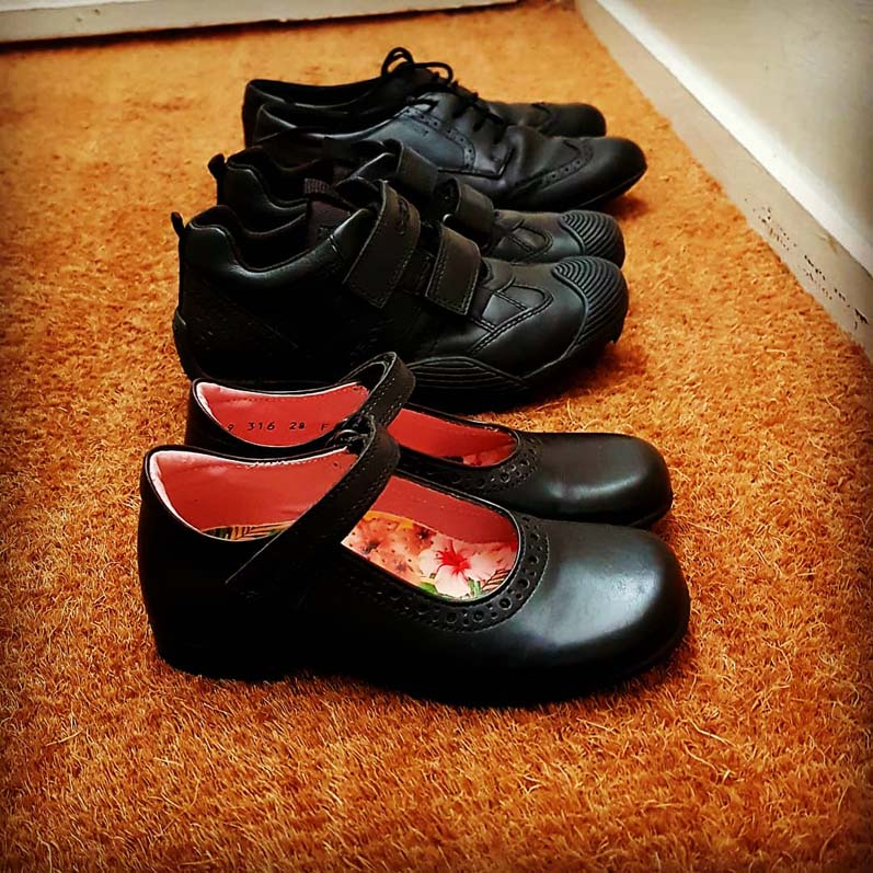 Photo of new school shoes by Hannah Foley. All rights reserved (www.hannah-foley.co.uk).