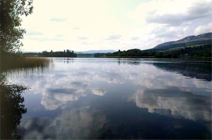 Crannog islands on the Lake of Menteith by Hannah Foley. All rights reserved (www.hannah-foley.co.uk)